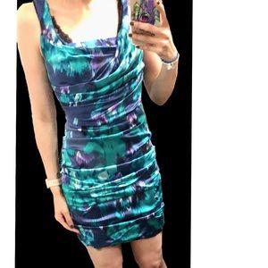 93% Silk Rouched Dress - Express Design Studio